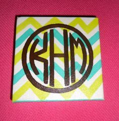Square Monogram Canvas by ejanedesign on Etsy