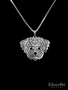Bichon Frise in puppy/pet haircut  sterling by SiberianArtJewelry, $99.00