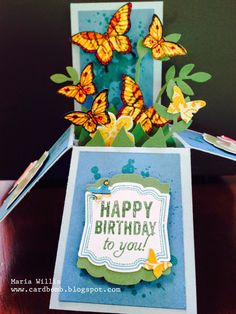 Stampin' Up Butterfly Potpourri Card Bomb by Maria Willis: BUTTERFLY BOX CARD I made this Butterfly Box Card ...
