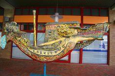 Mermaid art in Norfolk, Virginia
