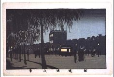 TOKYO DIGITAL MUSEUM 井上安治: True Pictures of Famous Places in Tokyo: Night View of Sujikai Street - 江戸東京博物館