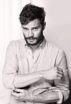 Jamie Dornan. Our sweet Christian Grey :) I think that's the best choice ever made. Nobody could be that similar to Grey. Can't wait for the movie :)