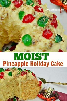 This is one of the best, most popular Holiday Cakes which you just have to try ! Moist, soft, double Pineapple and an amazing Pudding Cream Pineapple Frosting Desserts Menu, Delicious Desserts, Dessert Recipes, Square Cake Pans, Square Cakes, Pineapple Frosting, Vanilla Cake Mixes, Pecan Nuts, Yellow Cake Mixes
