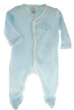 Hiccups Childrens Boutique Newborn Boys Blue Smocked Bubble Outfit Hat Take Home Set