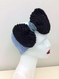 100% Pure Alpaca Big Bow Headband, Earwarmer