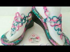 SANDALIA ARGOLLAS TEJIDA EN CROCHET PARTE 2 - YouTube Crochet Slipper Pattern, Crochet Slippers, Crochet Stitches, Knit Crochet, Spring Boots, Crochet Flower Tutorial, Crochet Sandals, Shoe Pattern, Crochet Fashion