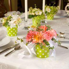 Festas e Eventos: Arranjo de mesa de diversos formatos