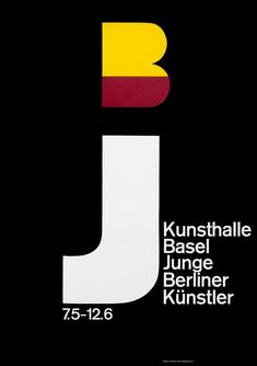Junge Berliner Kunsthalle Basel by Hofmann, Armin | Vintage Posters at International Poster Gallery
