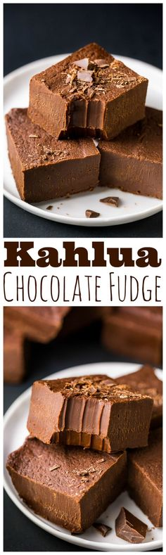 Kahlua Chocolate Fudge So YUMMY! Creamy Kahlua Chocolate Fudge made with just a few ingredients. Perfect for holiday gifts!So YUMMY! Creamy Kahlua Chocolate Fudge made with just a few ingredients. Perfect for holiday gifts! Chocolates, Candy Recipes, Sweet Recipes, Dessert Recipes, Soap Recipes, Weight Watcher Desserts, Mini Desserts, Just Desserts, Brownie Desserts