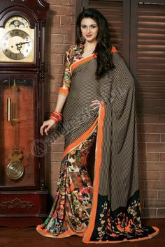 Price: £39.00, In stock, Design No. DMV7221, Quick Overview:- Andaaz Fashion new arrival Saree and Blouse are now in store like Black Cream Art Silk Bhagalpuri Saree with Blouse Embellish with Printed, , Asymmetrical Neck Blouse, Quarter Sleeve Blouse and with Printed Pallu. These designs are perfect for Party,Wedding,Festival,Casual. For More Details Visit @ http://www.andaazfashion.co.uk/womens/sarees/black-cream-art-silk-bhagalpuri-saree-with-blouse-dmv7221.html
