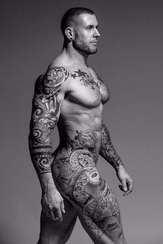 Shoulder eagle tattoo and arms and abs tattoos beautiful for Naked men tattoo