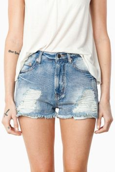 Simple Jean shorts for summer//