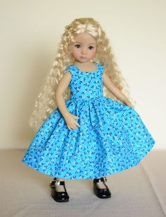 """SOLD """"Summer Sky"""" Dress, Outfit, Clothes for 13"""" Dianna Effner Little Darling #LuminariaDesigns"""