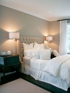 Beige Tufted Headboard - Contemporary - bedroom - Benjamin Moore Pashmina - Staples Design Group
