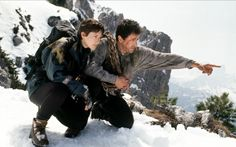 Janine Turner and Sylvester Stallone in Cliffhanger (1993)