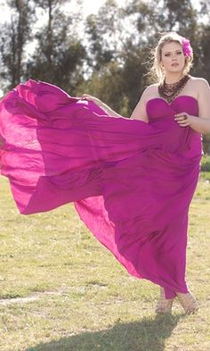 Beautiful Plus Size Bridesmaid Gown. Can be worn strapless, with sleeves, as halter and in many more styles. Good fabric choice for destination weddings (when packing is limited).