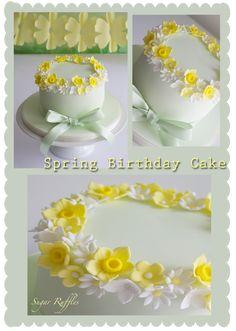 Sugar Ruffles, Elegant Wedding Cakes- The Lake District, Cumbria: Spring Birthday Cake