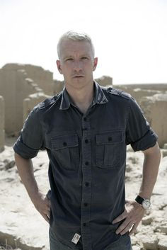 Anderson Cooper.  He doesn't sit in a cushy air conditioned environment 100% of the time, he gets out in the field...
