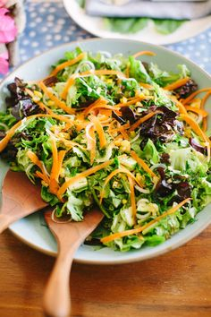 Spring Green Salad with Preserved Lemon by ahouseinthehills #Salad #Lemon #Healthy