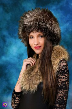 Fur fashion portrait - Winter fashion