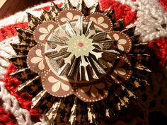 Recycled Paper Christmas Ornament made by PaperBallet in Flickr