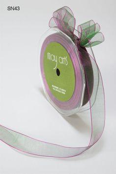 5/8 Inch by 50 Yards Sheer / Iridescent - May Arts Ribbon
