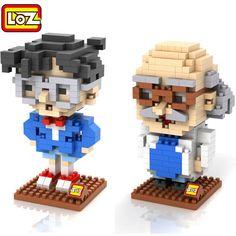 LOZ Detective Conan Kudou Shinichi 3D DIY Diamond Building Blocks Children Intellectual Development Toys DIY Toy For Gifts