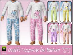 minicart's Giraffe Sleepwear for Toddlers