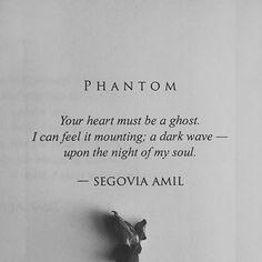 PHANTOM; Segovia Amil #prosepoetry #poem