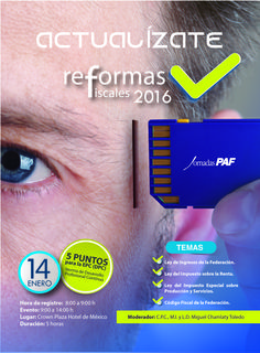 REFORMAS FISCALES 2015 PAF-GASCA