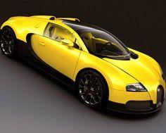 Bugatti Veyron Yellow Super Car