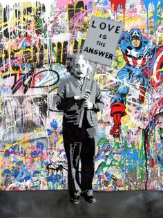 Mr. Brainwash, French born artist Thierry Guetta (1966), has captured the imagination of the international market with his unique fusion of classic Pop Art imagery with the subversive playfulness of contemporary Street Art. His unique working style incorporates richly layered screen printing, stencils, spray painting and improvisational hand painting. His imagery playfully juxtaposes cultural icons of the past with the present while stylistically paying homage to an array of artists.