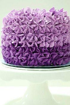 Purple Ruffled cake