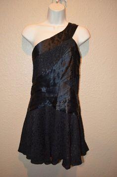 NWT $484 Sz S Alice + Olivia Black One Shoulder Bandaid LBD Cocktail Dress #AliceOlivia #OneShoulder #Cocktail