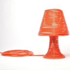 Love this coil table lamp - so clever!