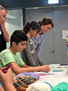 Textiles, ceramics, bike mechanics and IT programming are just some of the skills local craftsman share with local kids Duchess Kate, Duke And Duchess, New Zealand Tours, House Of Windsor, Princess Kate, Princess Charlotte, Duke Of Cambridge, Prince William, British Royals