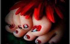 girly nail art design toes | Simple Nail Art Designs For Toes | Nail Move.com