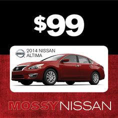 Yes, you really can lease a 2014 Nissan Altima 2.5 S for only $99 a month! #WhatCanYouGetFor99 #NissanAltima