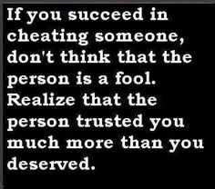 cheating someone