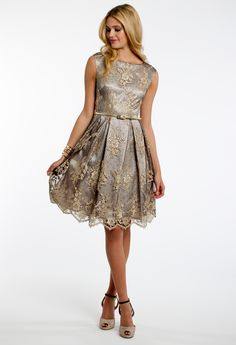 Embroidered Lace Party Dress #camillelavie