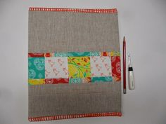 Blueberry Patch: Warp and Weft Sewing Society: Covered binder