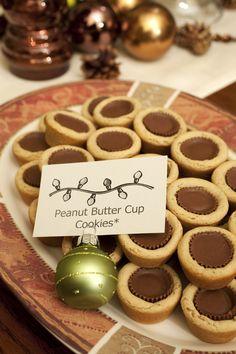 Dessert Recipe: Bite-Sized Peanut Butter Cup Cookies - Walmart Recipes - Ideas of Walmart Recipes - Dessert Recipe: Bite-Sized Peanut Butter Cup Cookies Peanut Butter Cup Cookies, Yummy Cookies, Yummy Treats, Sweet Treats, Köstliche Desserts, Delicious Desserts, Dessert Recipes, Holiday Baking, Christmas Baking