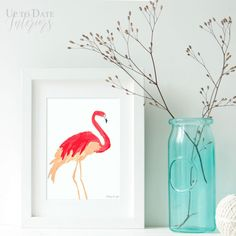 Printable flamingo p