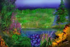 Digital Painting by Gordon Currie Watercolour Paintings, Watercolor, Original Art, Original Paintings, Art Prints, Digital, Nature, Art Impressions, Watercolour