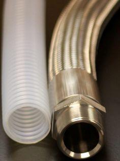 """1.5"""" C-Flex Hose: Convoluted PTFE lined ss braided hose"""