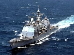 """USS """"Yorktown""""(CG - Ticonderoga – Class Guided Missile Cruiser , ships with missile launchers Naval History, Us History, American History, Ticonderoga Class, Uss Yorktown, Navy Day, Us Navy Ships, American Revolutionary War, Armada"""