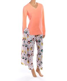 Another great find on #zulily! Neon Orange Penguin Microfleece Pajama Set & Blanket by PJ Couture #zulilyfinds