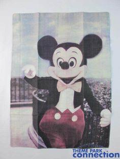 Disney Parks Vintage MICKEY MOUSE Display Banner Flag Decoration Souvenir
