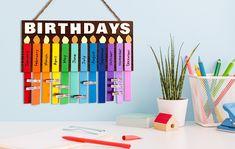 Classroom Birthday Chart Classroom Supplies, Classroom Decor, Office Supplies, Teacher Desk Organization, Classroom Welcome, Painted Closet, Chalkboard Markers, Classroom Birthday, Birthday Charts