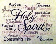 Holy Spirit stitched by Patricia Brooks Crewel Embroidery, Cross Stitch Embroidery, Cross Stitch Patterns, Faith Scripture, Favorite Bible Verses, Filet Crochet, Funny Sayings, Plastic Canvas, Joyful